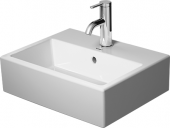 Duravit Vero Air - Handwaschbecken 450 mm mit Überlauf mit Hahnlochbank mit Hahnlöcher weiß