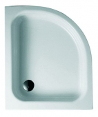 Bette BetteCorner ohne Schürze - Quarter-circle shower tray BetteGlaze Plus & anti-slip anthracite - 80 x 90