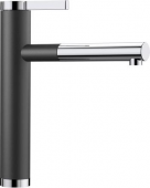 Blanco Linee-S - Küchenarmatur Silgranit-Look zweifarbig Hochdruck anthrazit/chrom