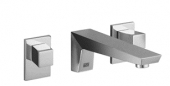Dornbracht Supernova - 2-handle basin mixer wall-mounted with projection 200 mm without waste set chrome