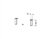 Duravit L-Cube - Sockelfüße aluminium matt