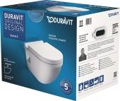 Duravit Starck 3 - WWC-Set Tiefspüler weiß inklusive WC-Sitz mit Absenkautomatik