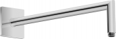 Duravit Universal - Brausearm abgewinkelt L352 eckig schwarz matt