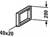 Duravit - Konsolenträger-Handtuchhalter 480 x 40 x 200 mm chrom