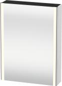 Duravit XSquare - SPS mit Beleuchtung 800x600x155 weiß matt Türanschlag links