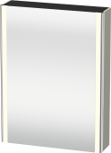 Duravit XSquare - SPS mit Beleuchtung 800x600x155 taupe seidenmatt Türanschlag rechts