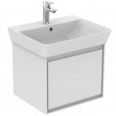 Ideal Standard Connect Air - Waschtisch-Unterschrank 485 x 412 x 400 weiß glänzend / hellgrau matt