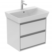 Ideal Standard Connect Air - Waschtisch-Unterschrank 580x409x517 mm weiß glänzend / hellgrau matt