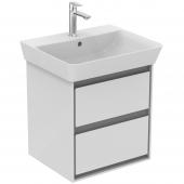 Ideal Standard Connect Air - Waschtisch-Unterschrank 480x409x517 mm weiß glänzend / hellgrau matt
