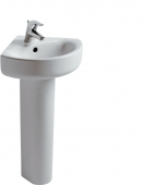 Ideal Standard Connect - Washbasin 480x440mm with 1 tap hole with overflow white without IdealPlus