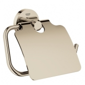 Grohe Essentials - WC-Papierhalter mit Deckel nickel