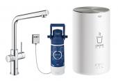 Grohe Red - Einhand-Küchenarmatur DUO mit Boiler M-Size und L-Auslauf chrom 1