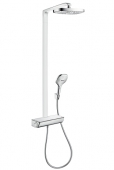 Hansgrohe Raindance Select E 300 - 2jet Showerpipe EcoSmart weiss / chrom