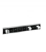 Hansgrohe RainSelect - Thermostat Unterputz Fertigset 4 Verbraucher schwarz / chrom