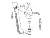 Ideal Standard - Ab- und Niederdruck Überauf mit Zulauf chrom
