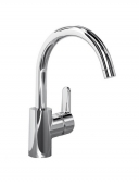 Ideal Standard Connect - Single lever kitchen mixer with swivel spout stainless steel