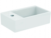 Ideal Standard Strada - Hand-rinse basin 450x270mm with 1 tap hole on left side without overflow white with IdealPlus