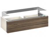 Keuco Edition 300 - Vanity unit 30374, 2 front drawers, white Hochgl. / White Hochgl.