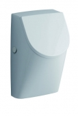 Keramag Renova Nr. 1 Plan - Urinal with lid, water supply from rear, outlet to rear