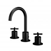 Steinberg Series 250 - 3-Loch-Waschtisch-Armatur mit Ablaufgarnitur matt black