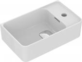 Ideal Standard Strada II - Handwaschbecken Version rechts 450 x 270 x 170 mm weiß mit IdealPlus