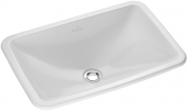 Villeroy & Boch Loop & Friends - Drop-in washbasin for Console 675x450mm without tap holes with overflow white with CeramicPlus
