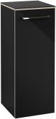 Villeroy & Boch Avento - Seitenschrank 350 x 892 x 370 mm Anschl rechts crystal black