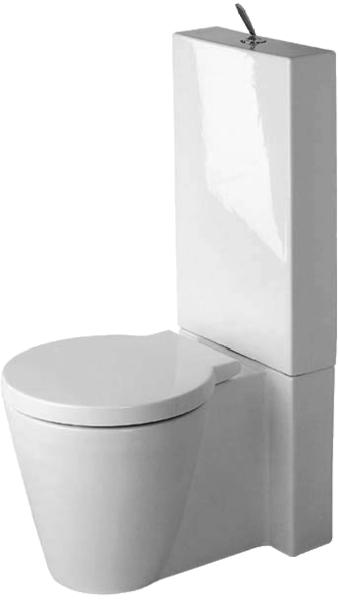 Bekannt DURAVIT Starck 1 Stand-Tiefspül-WC Kombination für Aufsatz SH45