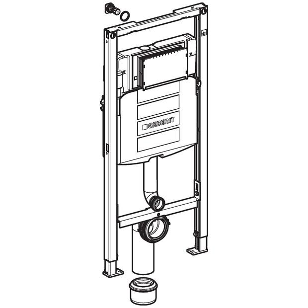 Geberit Duofix - Montageelement für Stand-WC 1120 mm mit Sigma ...