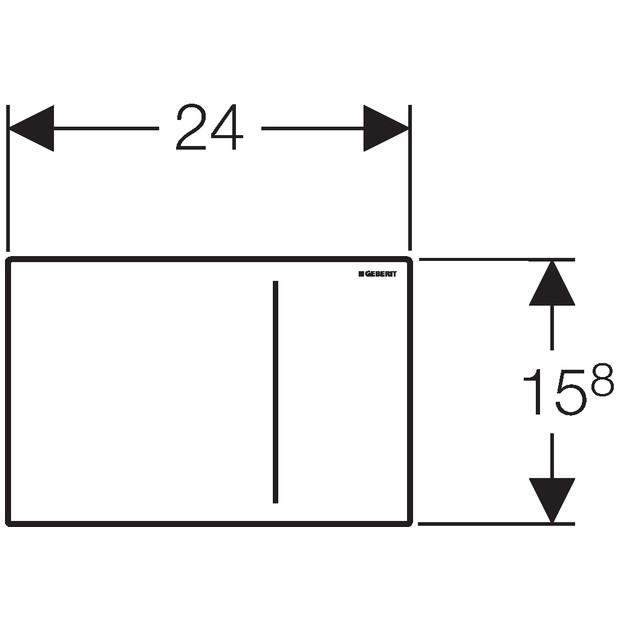 geberit sigma70 bet tigungsplatte f r 2 mengen sp lung edelstahl. Black Bedroom Furniture Sets. Home Design Ideas