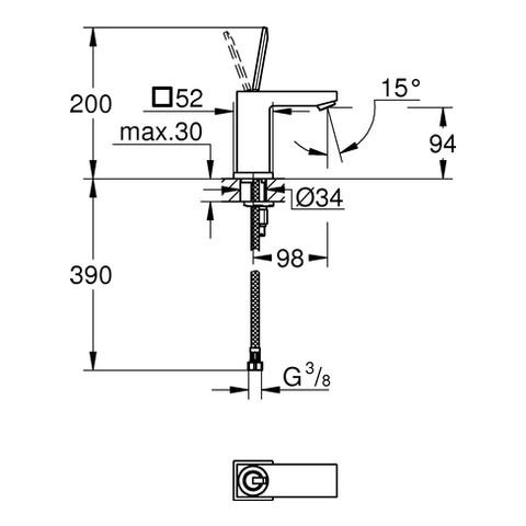 grohe eurocube joy einhebel waschtischarmatur xs size xtwostore. Black Bedroom Furniture Sets. Home Design Ideas
