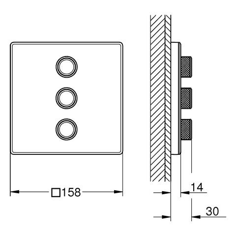 grohe grohtherm smartcontrol unterputz ventil f r 3 verbraucher xtwostore. Black Bedroom Furniture Sets. Home Design Ideas