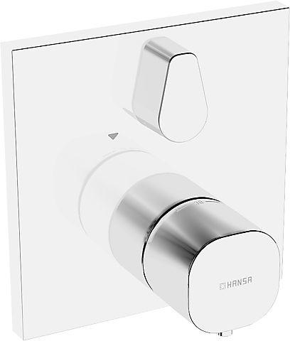 hansa hansaliving funktionseinheit mit dekorset thermostat wannenbatterie chrom. Black Bedroom Furniture Sets. Home Design Ideas