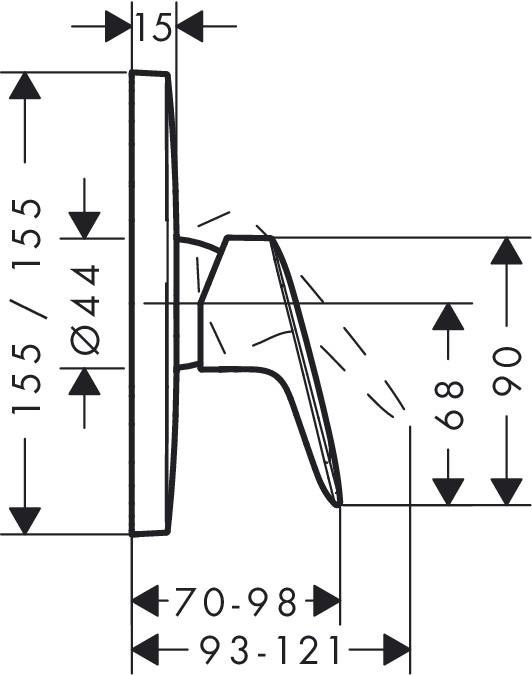 hansgrohe logis unterputz einhebel duscharmatur f r 1 verbraucher xtwostore. Black Bedroom Furniture Sets. Home Design Ideas