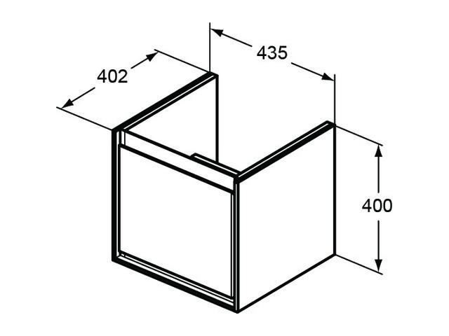 ideal standard connect air waschtischunterschrank wei gl nzend wei matt. Black Bedroom Furniture Sets. Home Design Ideas