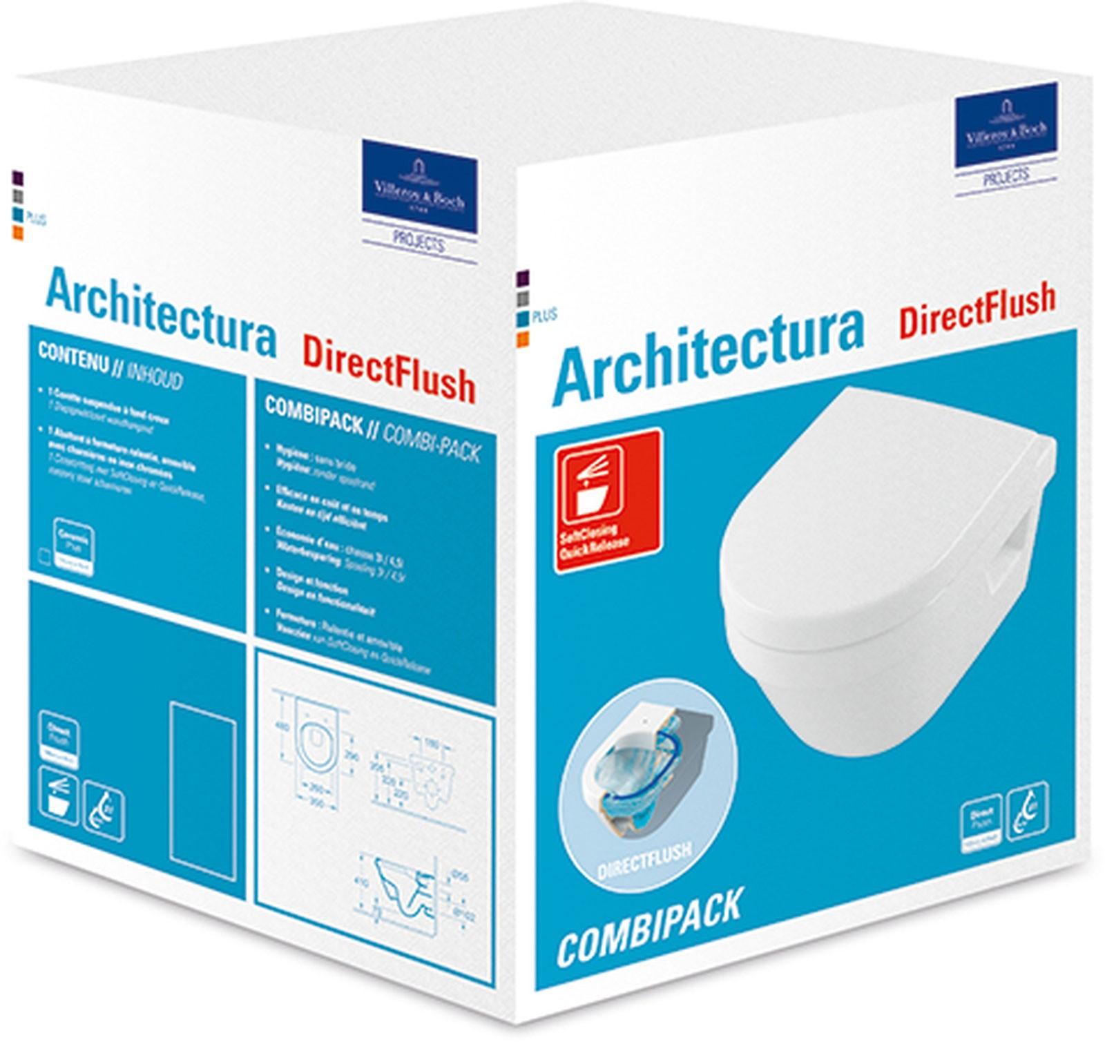 Villeroy & Boch Architectura Wand-Tiefspül-WC Compact SET ...