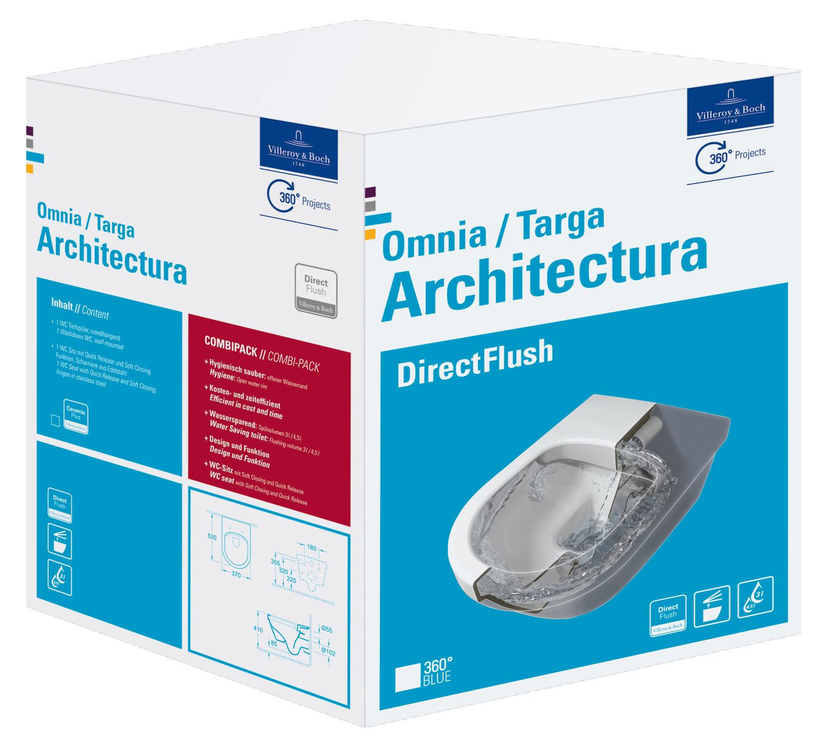 Villeroy & Boch Architectura Wand-Tiefspül-WC SET mit DirectFlush ...