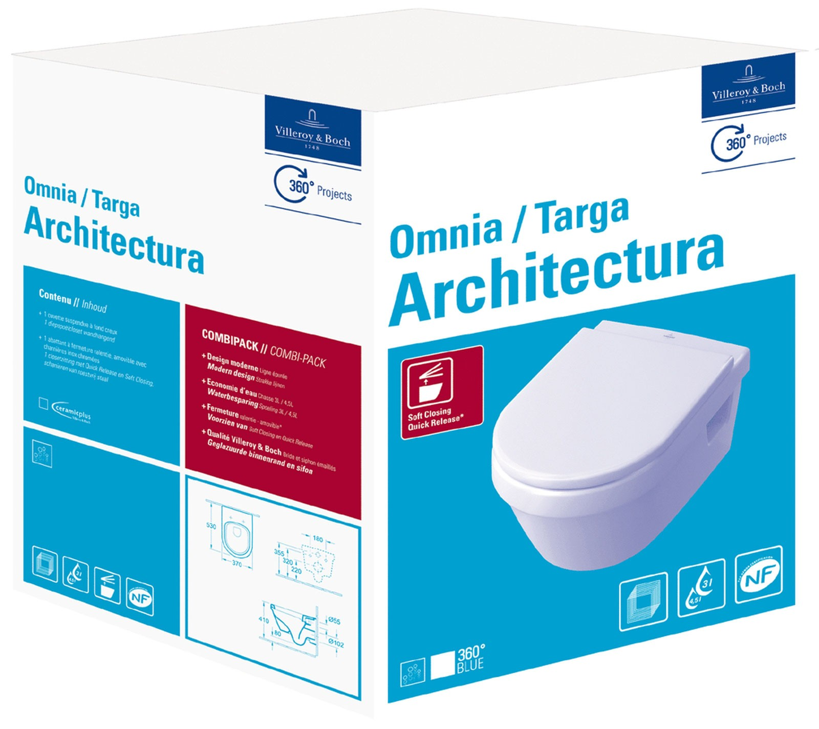 Villeroy & Boch Architectura Wand-Tiefspül-WC SET ohne DirectFlush ...
