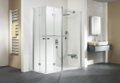 HSK Exklusiv - Eckeinstieg mit Drehfalttür und Festelement Sonderfarbe 900/1400 x 2000 mm carré