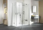 HSK Exklusiv - Eckeinstieg mit Drehfalttür und Festelement Sonderfarbe 1400/900 x 2000 mm carré