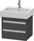 Duravit Ketho - Waschtischunterbau 550 x 480 x 440 mm mit 2 Auszügen graphit matt