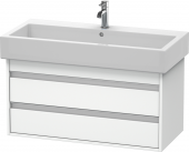 Duravit Ketho - Waschtischunterbau 950 x 480 x 440 mm mit 2 Auszügen weiß matt