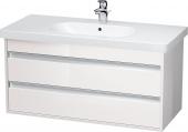 Duravit Ketho - Waschtischunterbau 1000 x 480 x 455 mm mit 2 Auszügen weiß hochglanz