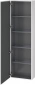 Duravit L-Cube - Hochschrank 500 x 1760 x 243 mm mit 1 Tür & 4 Glasfachböden & Anschlag links weiß hochglanz