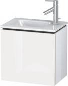 Duravit L-Cube - Waschtischunterbau 420 x 400 x 294 mm mit 1 Tür & Anschlag links weiß hochglanz