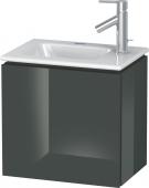 Duravit L-Cube - Waschtischunterbau 420 x 400 x 294 mm mit 1 Tür & Anschlag links dolomiti grey hochglanz