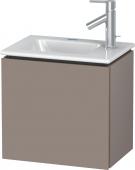 Duravit L-Cube - Waschtischunterbau 420 x 400 x 294 mm mit 1 Tür & Anschlag links basalt matt
