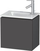 Duravit L-Cube - Waschtischunterbau 420 x 400 x 294 mm mit 1 Tür & Anschlag links graphit matt