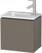 Duravit L-Cube - Waschtischunterbau 420 x 400 x 294 mm mit 1 Tür & Anschlag links flannel grey seidenmatt