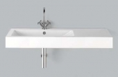 Alape WT.GR1250H.R - Waschtisch 1250 x 500 mm mit 1 Hahnloch und Überlauf weiß